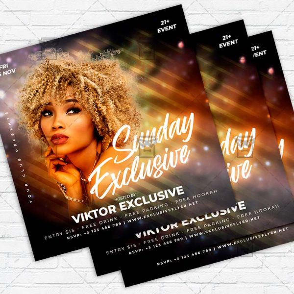 Sunday Exclusive - Flyer PSD Template   ExclusiveFlyer