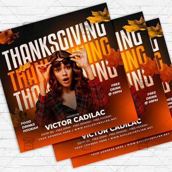 Thanksgiving Bash - Flyer PSD Template | ExclusiveFlyer