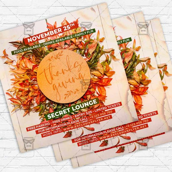 Thanksgiving Day - Flyer PSD Template   ExclusiveFlyer