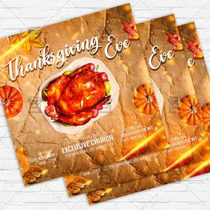 Thanksgiving Eve - Flyer PSD Template | ExclusiveFlyer