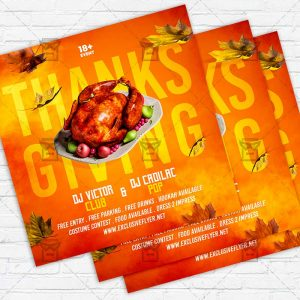 Thanksgiving Night - Flyer PSD Template | ExclusiveFlyer